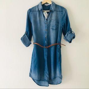 Love Tree LA Tencel Denim Shirt Dress